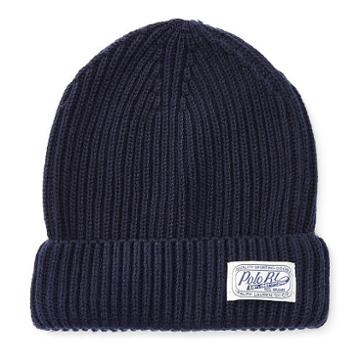 Polo Ralph Lauren Ribbed Cotton Watch Cap Holiday Navy