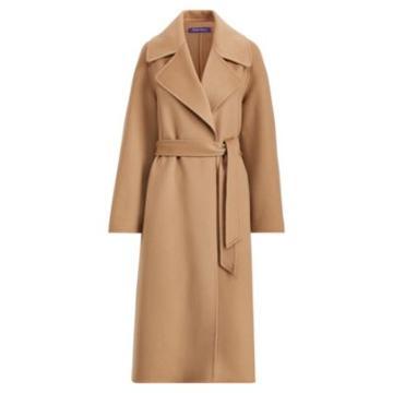 Ralph Lauren Leonarda Cashmere Wrap Coat Camel