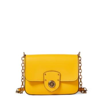 Ralph Lauren Leather Crossbody Bag Sunflower