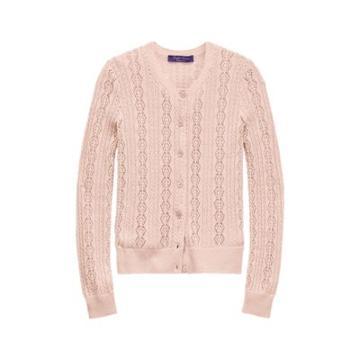 Ralph Lauren Pointelle-knit Cardigan Blush