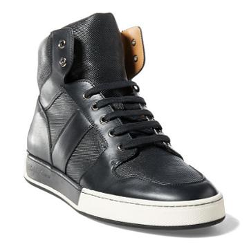Ralph Lauren Blaise Nappa Leather Sneaker Black