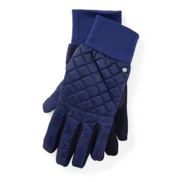 Ralph Lauren Diamond-quilted Tech Gloves Navy