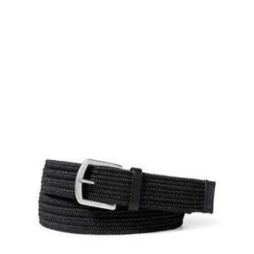 Ralph Lauren Braided Stretch Cotton Belt Black