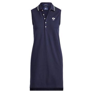 Polo Ralph Lauren Wimbledon Mesh Polo Dress French Navy