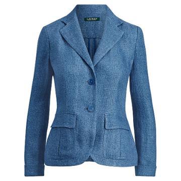 Ralph Lauren Lauren Linen 2-button Blazer Med Blue