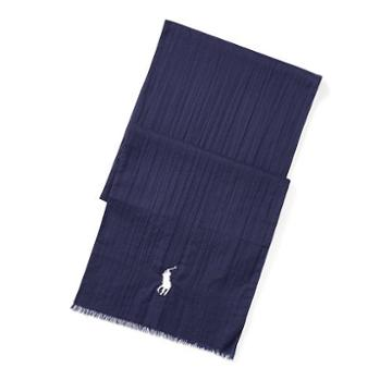 Polo Ralph Lauren Frayed Cotton Scarf Bright Navy