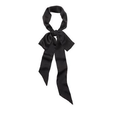 Polo Ralph Lauren Skinny Silk Scarf Black