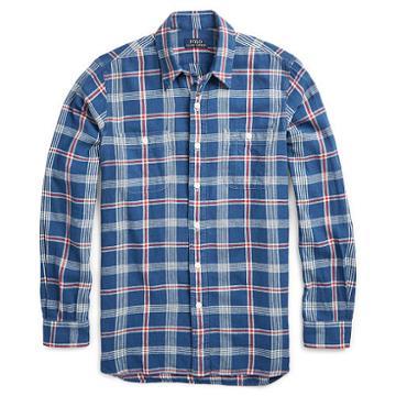 Polo Ralph Lauren Standard Fit Twill Workshirt Deep Blue/white