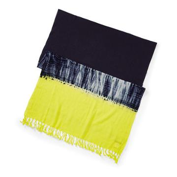 Polo Ralph Lauren Dip-dyed Cotton Scarf Indigo