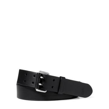 Ralph Lauren Leather Military Belt Black