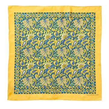Polo Ralph Lauren Paisley Silk Square Scarf Yellow
