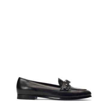 Ralph Lauren Bailee Leather Loafer Black