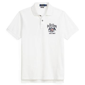 Polo Ralph Lauren Custom Slim Fit Cotton Polo Classic Oxford White