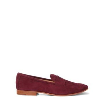 Ralph Lauren Ashtyn Suede Penny Loafer Berry