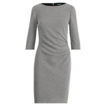 Ralph Lauren Knit Jacquard Sheath Dress Black/white 2p