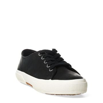 Ralph Lauren Lauren Jolie Leather Sneaker Black