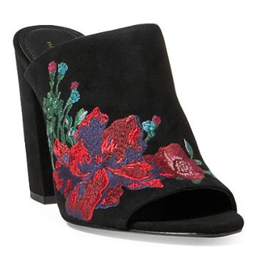 Polo Ralph Lauren Kinley Embroidered Suede Mule
