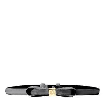 Ralph Lauren Lauren Faux-leather Bow Belt Black
