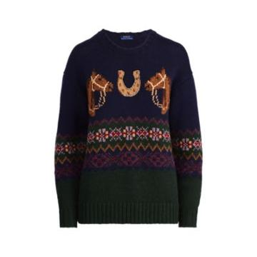 Ralph Lauren Horseshoe Fair Isle Sweater Navy Multi