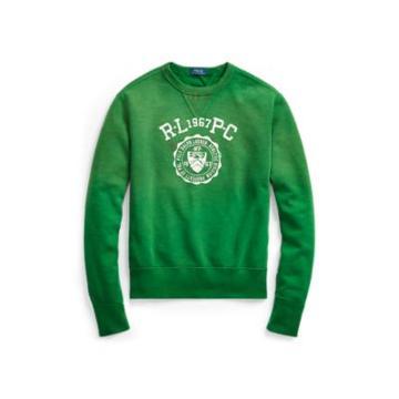 Ralph Lauren Cotton-blend-fleece Sweatshirt Athletic Green