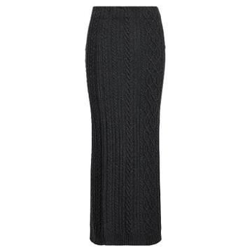 Ralph Lauren Lauren Petite Aran-knit Wool Maxiskirt