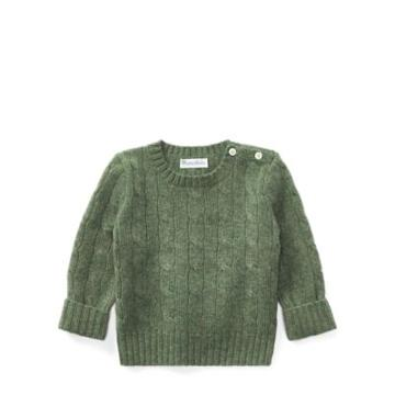 Ralph Lauren Cable-knit Cashmere Sweater Lovett Heather 18-24m