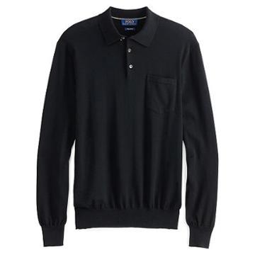 Polo Ralph Lauren Collared Cotton Sweater Polo Black