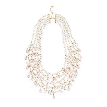 Ralph Lauren Lauren Beaded 5-strand Necklace Gold/pearl/pink