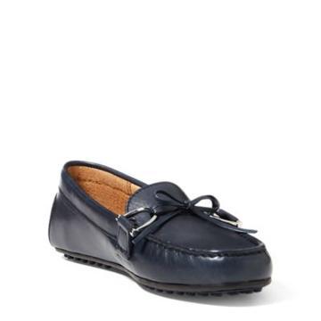 Ralph Lauren Briley Leather Loafer Modern Navy