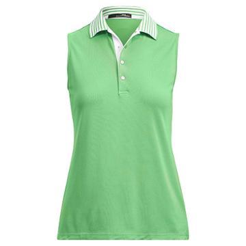 Ralph Lauren Rlx Golf Stretch Sleeveless Polo Shirt Green