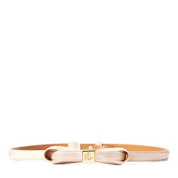 Ralph Lauren Lauren Faux-leather Bow Belt Blush