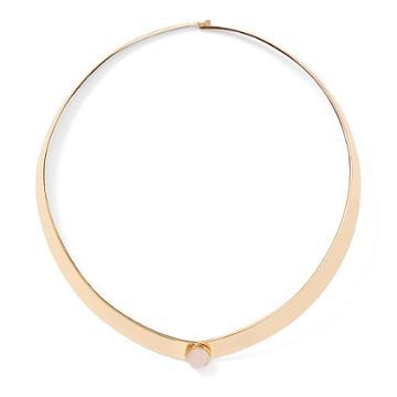 Ralph Lauren Lauren Rose Quartz Collar Necklace Gold/pink