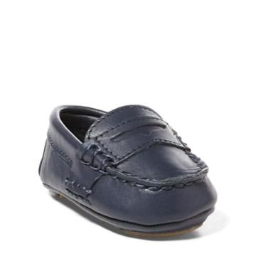 Ralph Lauren Telly Leather Loafer Navy Leather 1 (6-12 Wks)
