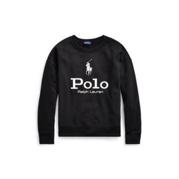 Ralph Lauren Polo Cotton Fleece Sweatshirt Polo Black