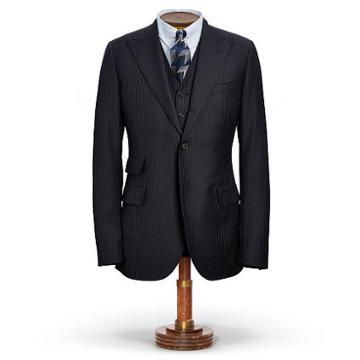 Ralph Lauren Rrl Pinstripe Wool Suit Jacket