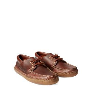 Ralph Lauren Leather Moccasin Mid Brown