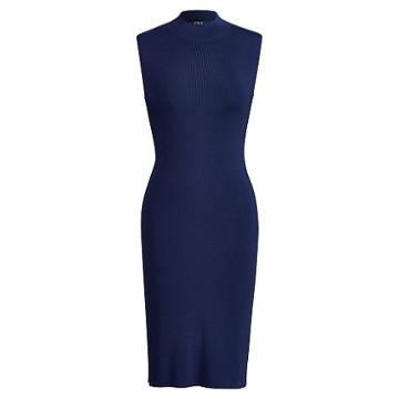 Polo Ralph Lauren Sleeveless Mockneck Dress Navy
