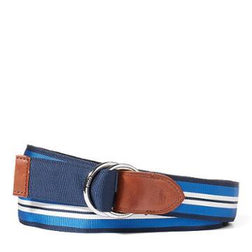 Polo Ralph Lauren Reversible Grosgrain Belt Navy/light Blue