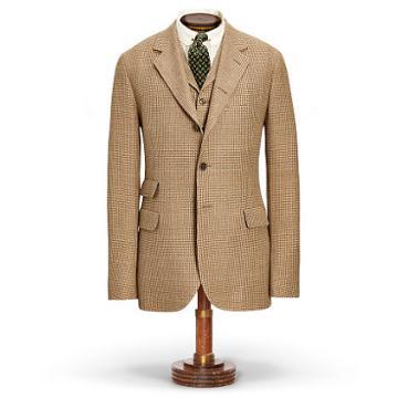 Ralph Lauren Rrl Linen-blend Tweed Suit Jacket