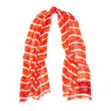 Ralph Lauren Nautical Striped Scarf Sunrise Orange