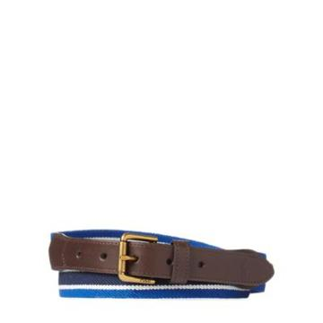 Ralph Lauren Striped Stretch Twill Belt Navy/blue/cream