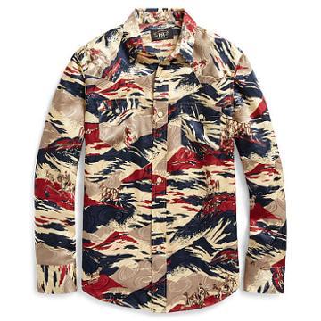 Ralph Lauren Rrl Buffalo Silk Western Shirt