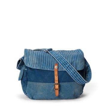 Ralph Lauren Indigo Patchwork Messenger Bag Indigo