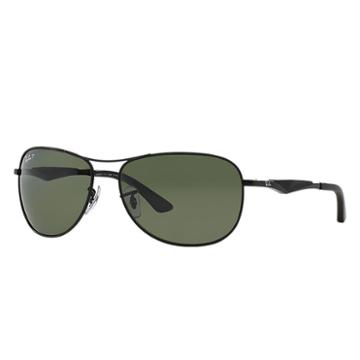 Ray-ban Men's Black Sunglasses, Polarized Green Lenses - Rb3519