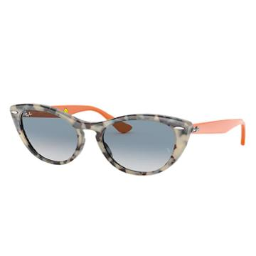 Ray-ban Nina Kraviz X Ray-ban Studios Orange Sunglasses, Blue Lenses - Rb4314n