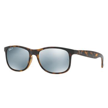 Ray-ban Men's Andy Tortoise Sunglasses, Polarized Gray Lenses - Rb4202