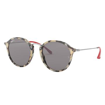 Ray-ban Men's Round Fleck Pop Silver Sunglasses, Polarized Grey Lenses - Rb2447