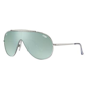 Ray-ban Wings Silver Sunglasses, Green Lenses - Rb3597