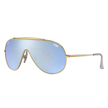 Ray-ban Wings Gold Sunglasses, Blue Lenses - Rb3597