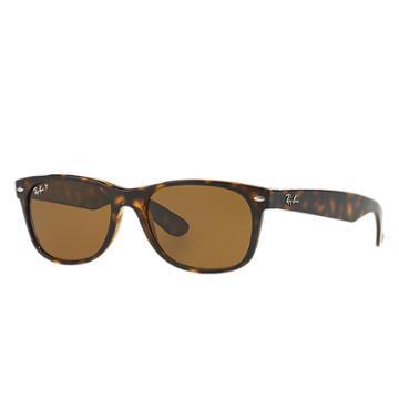 Ray-ban Men's New Wayfarer Blue Sunglasses, Polarized Brown Lenses - Rb2132